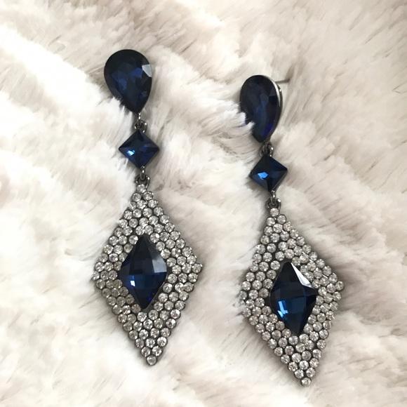 f4e17ea78 Jewelry   Navy Diamond Formal Earrings   Poshmark